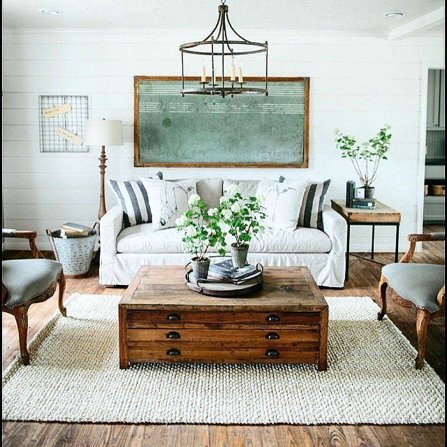 22 Farm Tastic Decorating Ideas Inspired By HGTV Host Joanna Gaines Living Room