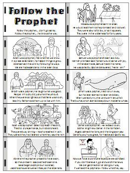 I will follow the prophet - handout and flipchart