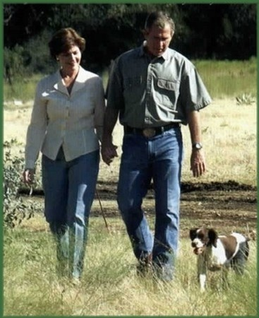 George and Laura Bush ~ I sure do miss them!  They have class, unlike the imposter in our White House now. Praying for change!