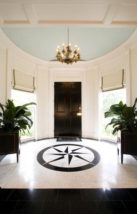 Foyer Ceiling Blue : Circular enty foyers margaux interiors limited