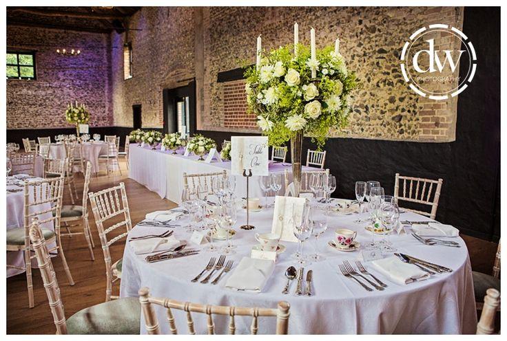 Wedding reception decor at The Granary Barns, Suffolk