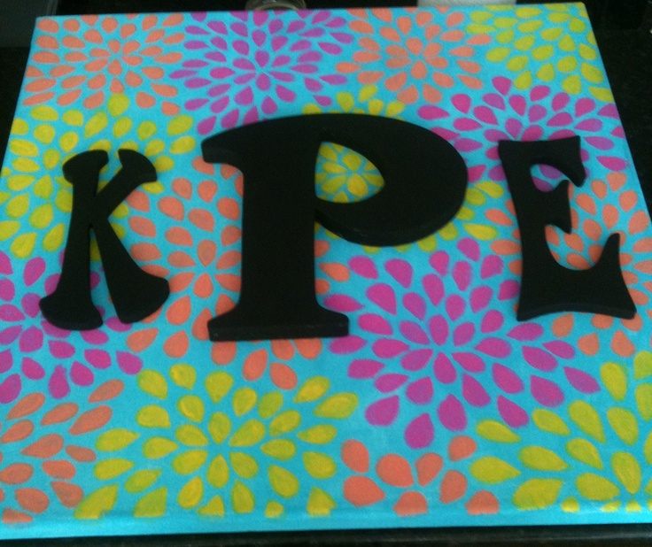 One of my canvas paintings - my initials