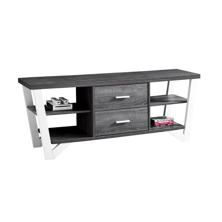 TV Stand with Drawers - Grey/White - EveryRoom, Gray