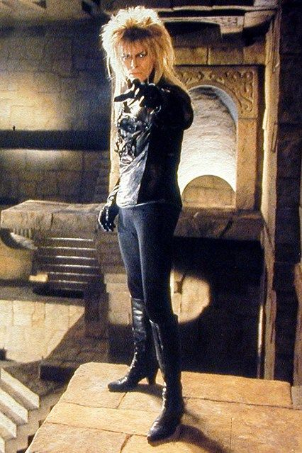 January 1 1986 In costume as the goblin king in children's film Labyrinth, directed by Jim Henson, and co-starring Jennifer Connelly.