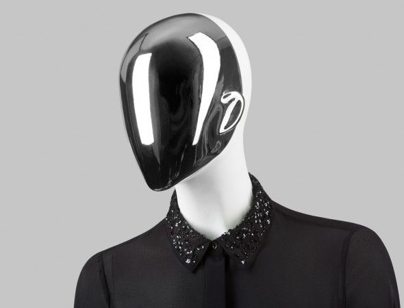 FUSION Collection by More Mannequins #FemaleMannequins #mask #collar #silver