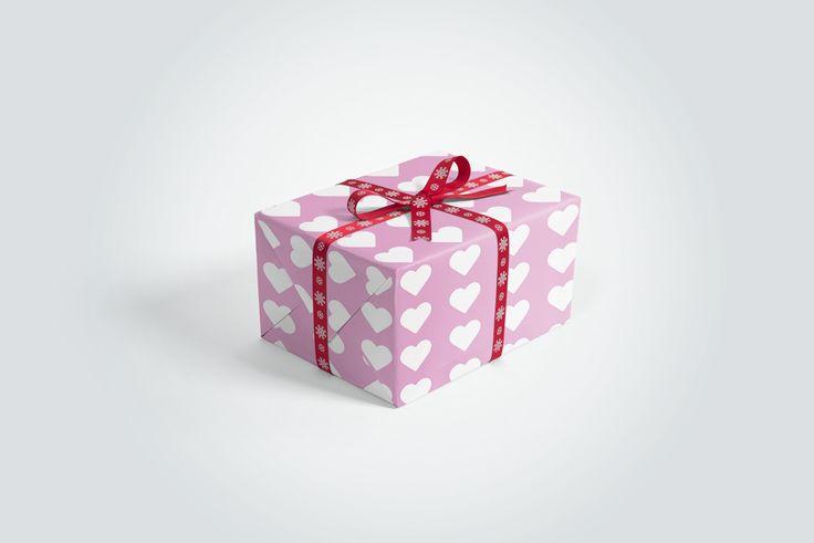Gift Box With Ribbons Mockup Mockupworld Gift Box Design Box Mockup Mockup Free Psd