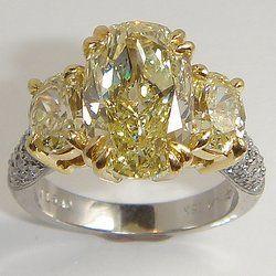 3 stone Fancy Yellow Diamond Ring | Yelp