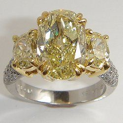 3 stone Fancy Yellow Diamond Ring | Yelp