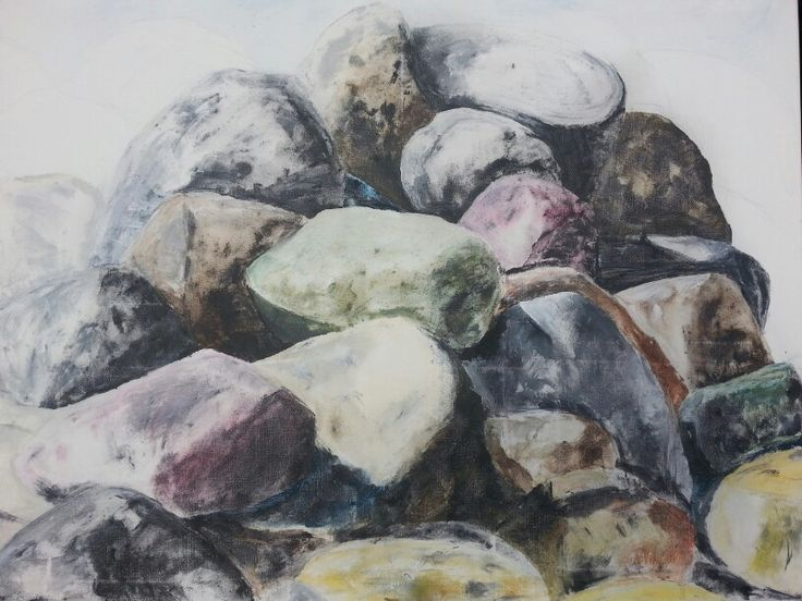 Rocks from the westcoast of Sweden. Acrylic. 80x60 cm. Contact: brittmarie.fabic@gmail.com