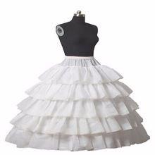 In Voorraad 5 Tiered Baljurk Wedding Petticoats Gratis Size Bridal Slip Onderrok Hoepelrok Wit Voor Trouwjurken(China (Mainland))