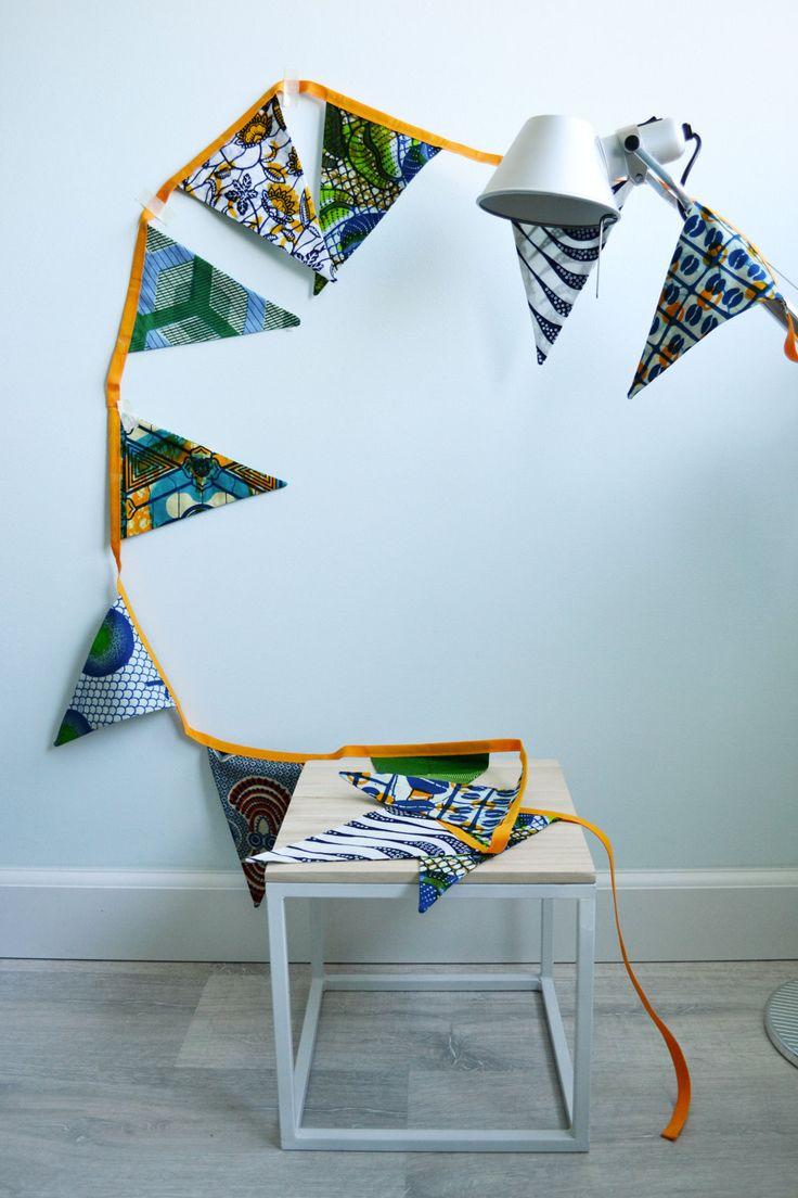 Vlaggetjes Afrikaanse stof | Batik Bunting door SusansWax op Etsy