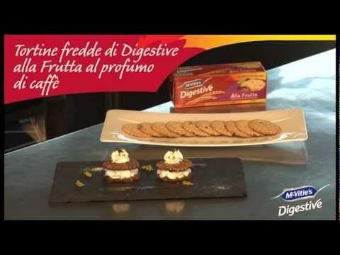#mcvities #digestive Tortine fredde di Digestive alla frutta e caffè #recipe #recipes #ricetta