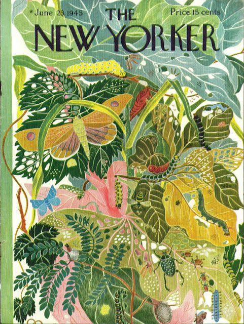 New Yorker cover, June 23, 1945. LOVE!
