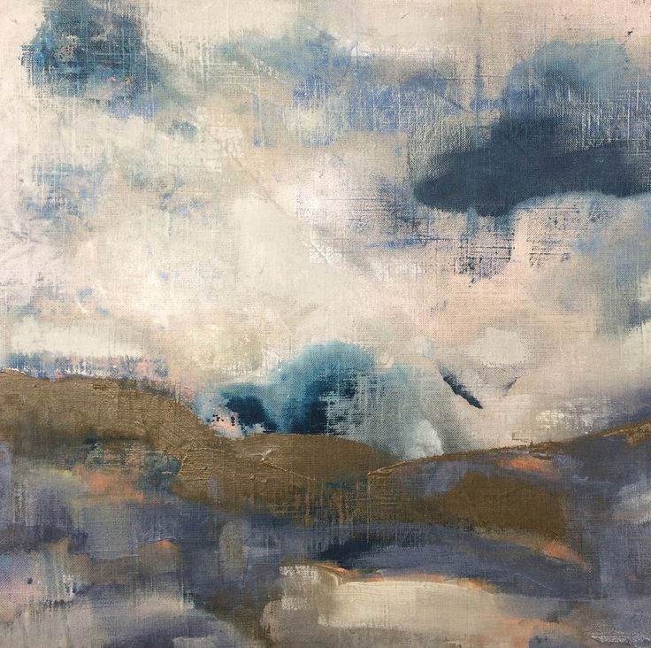 'Gathering' original painting on linen by Georgie Hoby Scutt for Belle Hawk