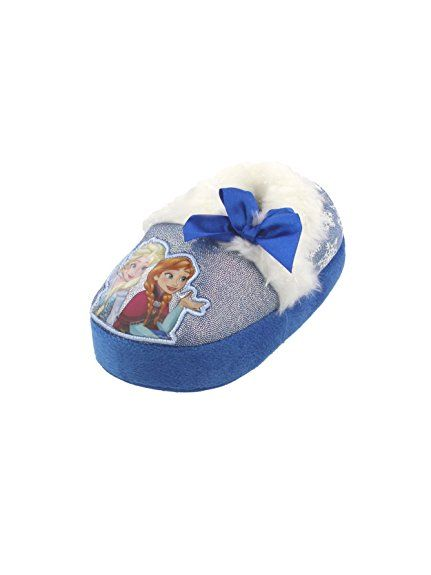 d8455df54a7 Your little one s feet will never be frozen in these adorable Disney Frozen  a-line slippers! Features include a soft plush texture