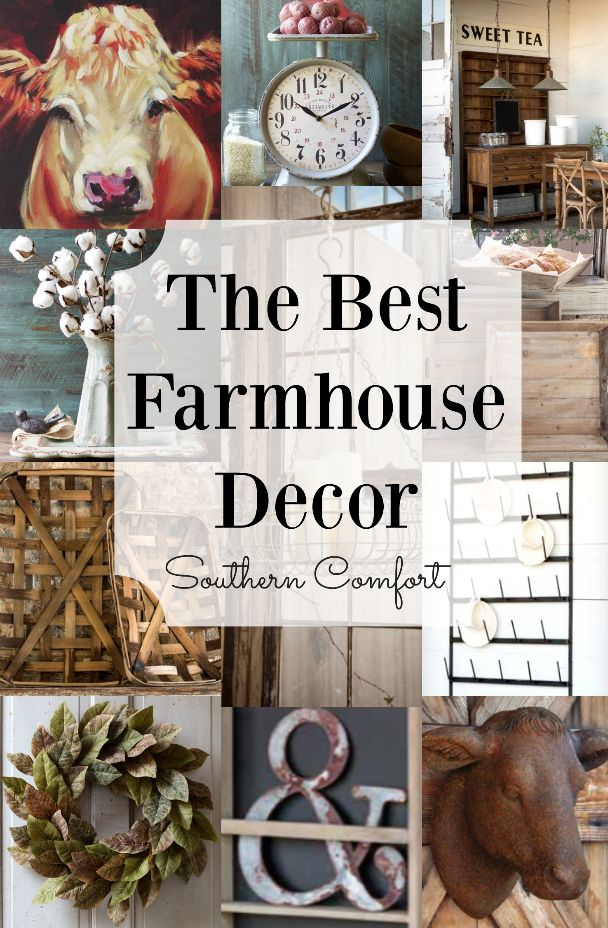Farmhouse Style Home Decor inspired by Fixer Upper! Everything you need to add…