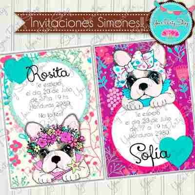 Kit Imprimible Invitaciones Candy Bar Cumple Simones