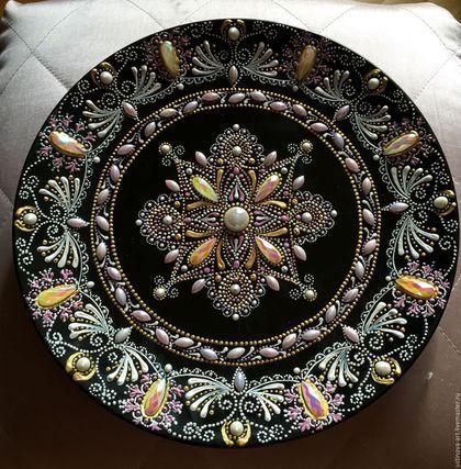 Декоративная посуда ручной работы. Ярмарка Мастеров - ручная работа. Купить Тарелка. Handmade. Комбинированный, точечная роспись, роспись на заказ