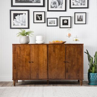 Vilas Tobacco-finished 4-door Dining Buffet