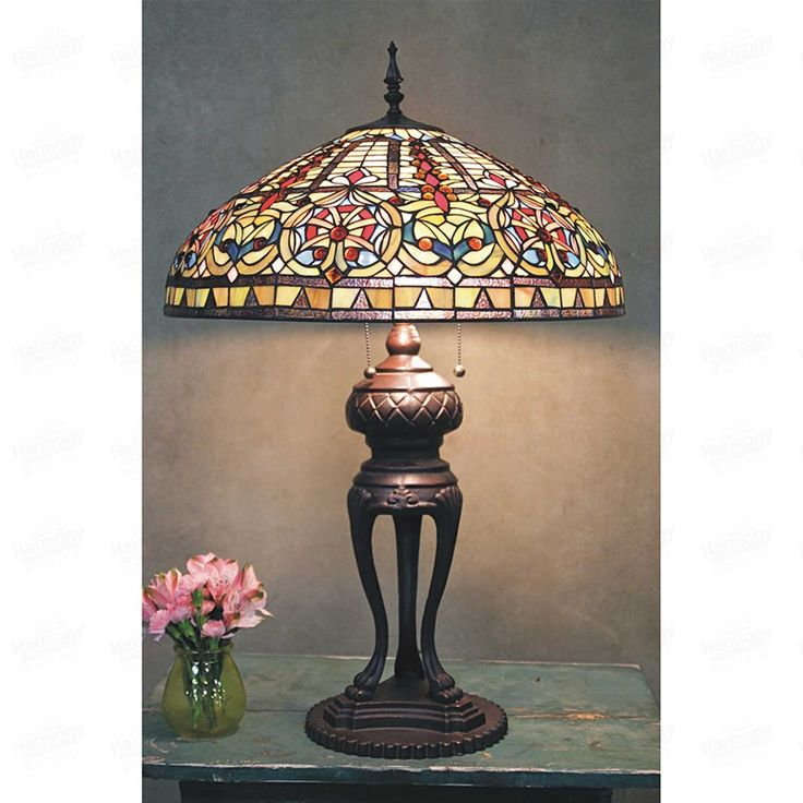 Awesome Antique Tiffany Style Table Lamps