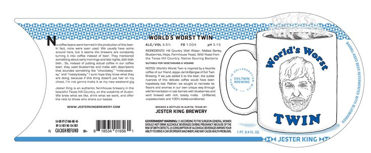 "Jester King & Evil Twin Brewing team up on ""World's Worst Twin"""