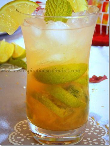 Mojito sans alcool, cocktail menthe et citron vert (cocktail Cuba)