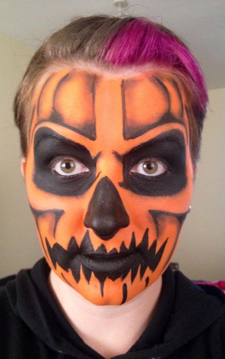 Halloween pumpkin Maquillaje calabaza, Maquillaje