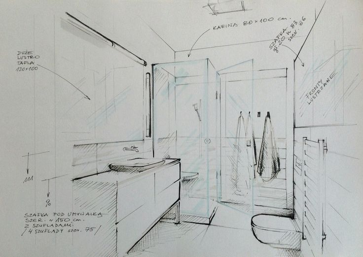 bathroom illustration hand sketchinterior sketcharchitecture sketchessketch designbathroomillustrationpresentation