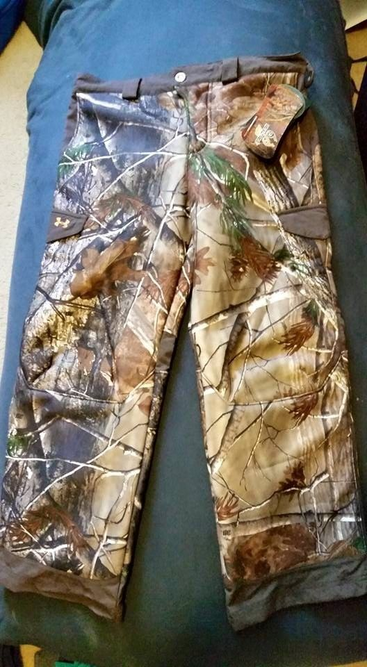 Under Armour ColdGear Ayton Realtree Camouflage Hunting Pants Youth Boys L | eBay