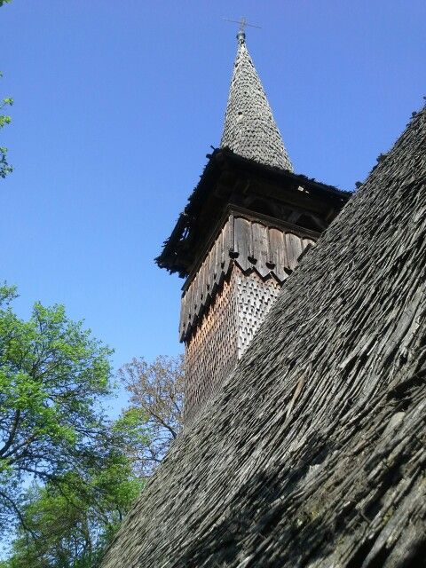 Centuries old Transylvanian wooden church, Dobricel, Transylvania