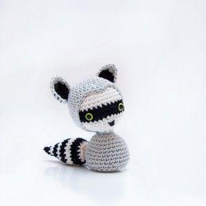Amigurumi Raccoon Pattern Free : Raccoon crochet free amigurumi pattern, #haken, gratis ...