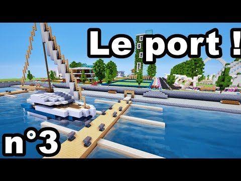 Videotuto Comment Construire Une Ville Sur Minecraft N 3 Le Port Tuto Comment Construire Comment Construire Maison De Luxe Minecraft Idees Minecraft