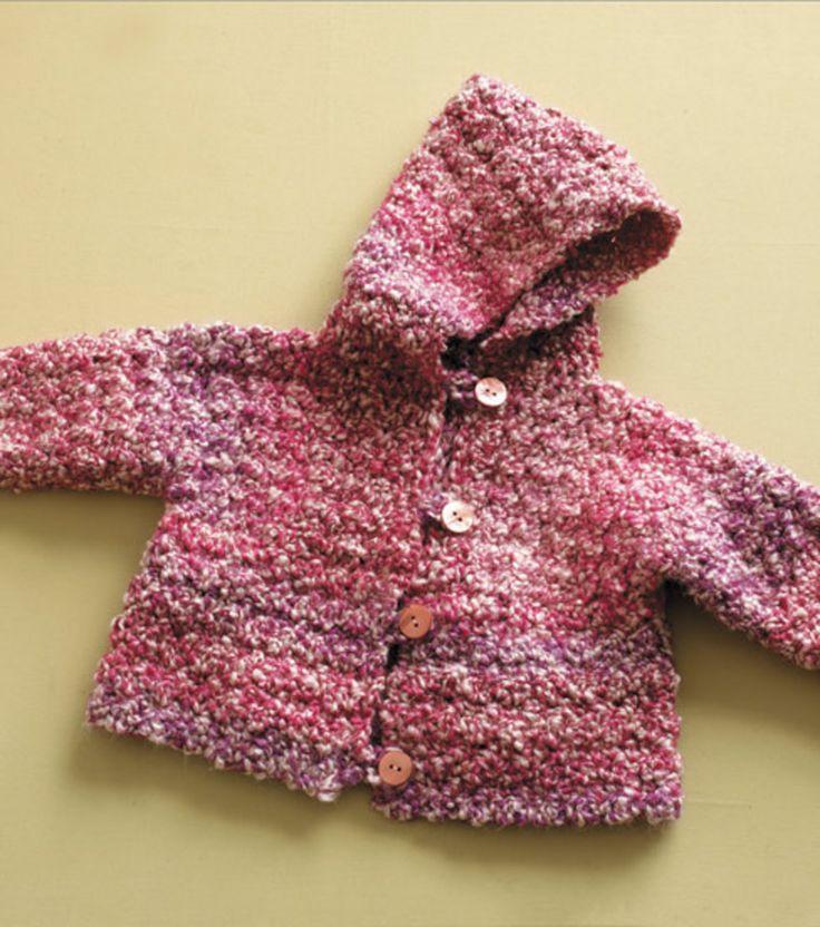 Child's Hooded Cardigan Free Crochet Pattern on JoAnn's ... - photo #23