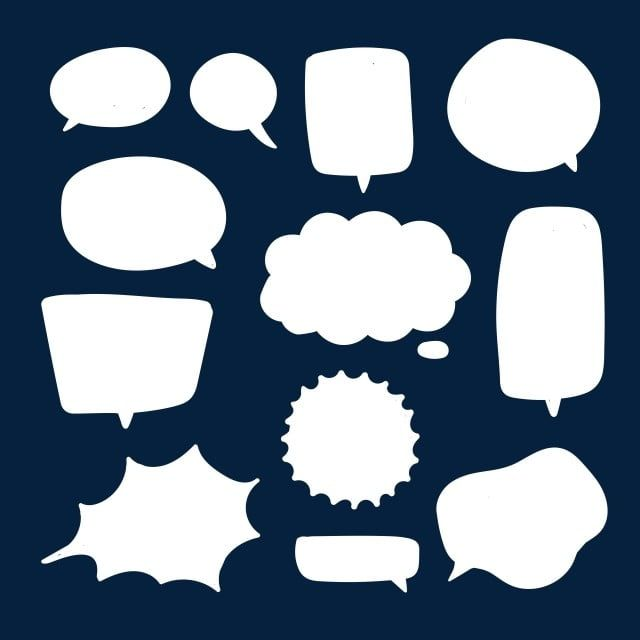 Blank White Speech Bubbles Thinking Talks Bubbling Chat Comment Comic Retro Shouting Voice Shapes Background Blank Boom Png And Vector With Transparent Back In 2020 Cloud Illustration Speech Bubble Voice Bubble