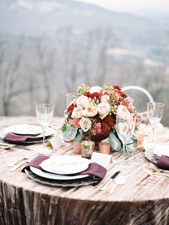 Blush and burgundy wedding colors- yes! Love it! Especially for a fall wedding- I've been looking for something that goes with burgundy!