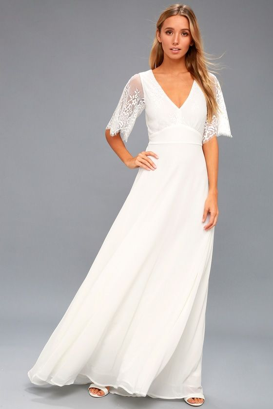 19bd61330da Daphne White Lace Maxi Dress in 2019