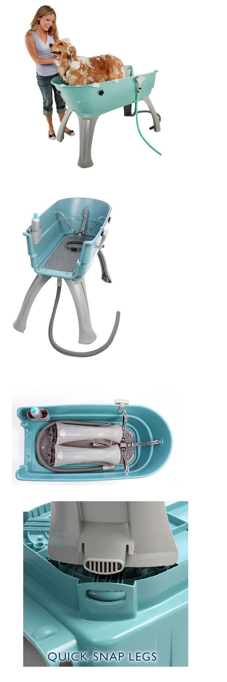 Shampooing and washing 149019 mobile dog grooming bath shower table equipment station pet elevated booster