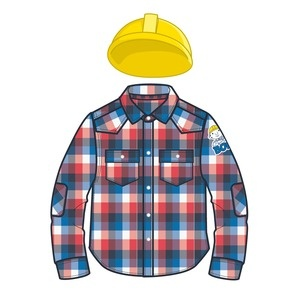Bob The Builder - Shirt and Free Hat. Whether your child has a busy day ahead at pre school or just at the park, this great checked Bob The Builder shirt features elbow pads, 2 pockets and also comes with a Free Bob the Builder hat! $24.99