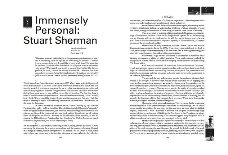 Mousse Magazine 56 ~ 2006–2016: A SMALL ANTHOLOGY #moussemagazine #contemporaryart #art #magazine #stuartsherman
