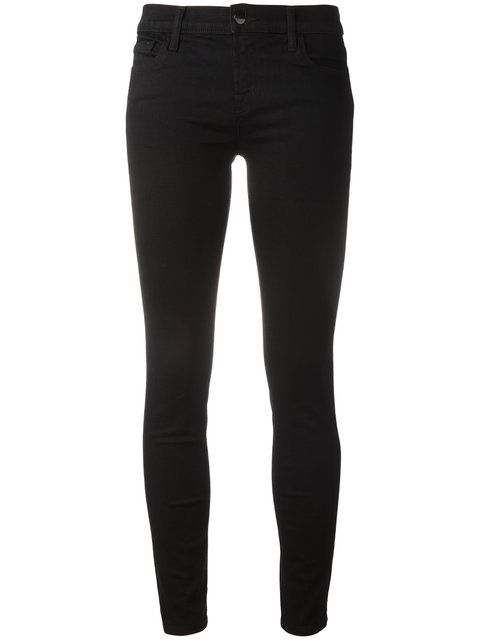 Mid High Rise Black Skinny Jeans Or Twill Pants Example J Brand Black Skinny Pants Designer Skinny Jeans Cropped Skinny Jeans