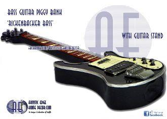 Bass Guitar Money Bank - Rickenbacker Bass