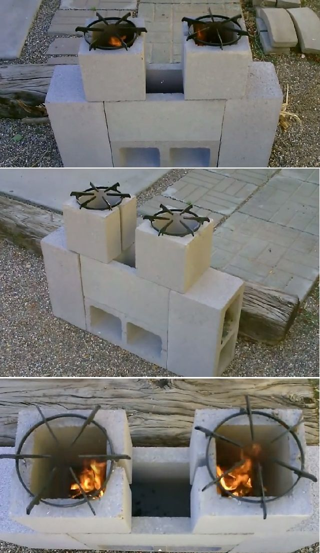 DIY Dual Burner Rocket Stove