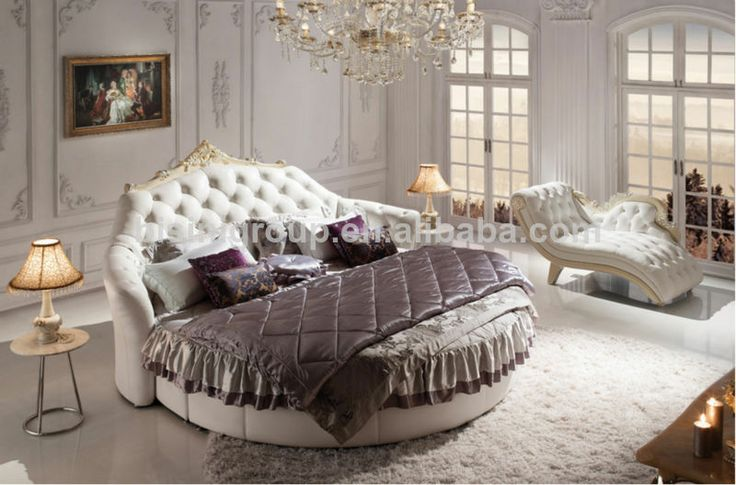european styled wedding bedroom furniture bisini luxurious king size round bed bf07 30003. Black Bedroom Furniture Sets. Home Design Ideas
