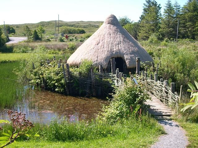 A crannog in Connemara. (Ancient lake dwelling.)