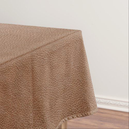 Faux Leather Natural Brown Tablecloth
