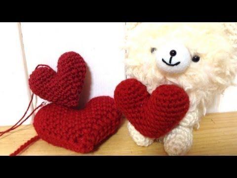 KNITTING TUTORIAL - PUFF HEART - YouTube