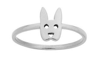 Karen Walker jewellery: Mini Rabbit ring - silver ($69) - pictured, Flower Ball ring - silver ($139)