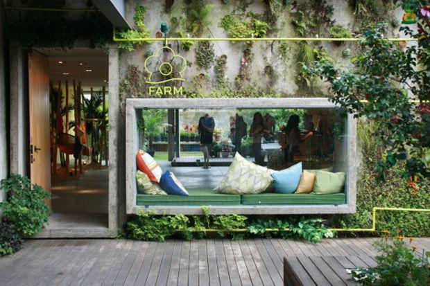 fachada verde | jardim vertical #facade #architecture #arquitetura