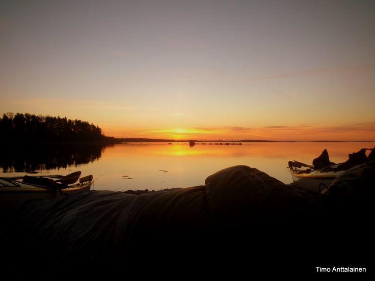 Kayak trip in Espoo, Finland.
