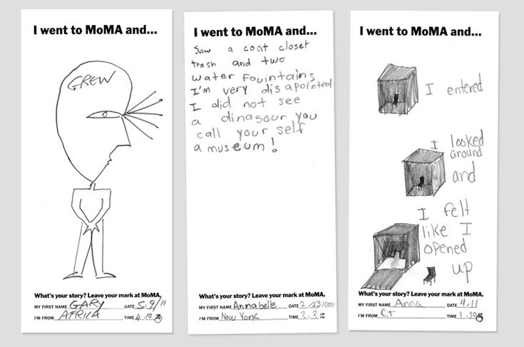 I went to MoMA and... - The Department of Advertising and Graphic Design